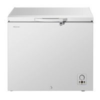 Hisense A+ Chest Freezer 260LTR, keep food for 135 Hours without power, Refrigerator convertible switching function, Easy to clean, Fast freeze, White
