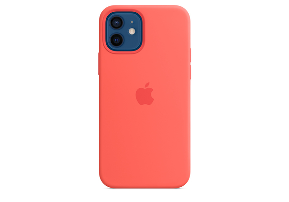 Apple iPhone 12| 12 Pro Silicone Case with MagSafe, Pink Citrus