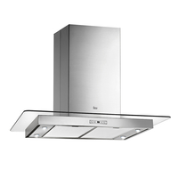 Teka 90 cm Island range Hood DG3 985, 4 Speeds, Stainless steel with Glass Wing