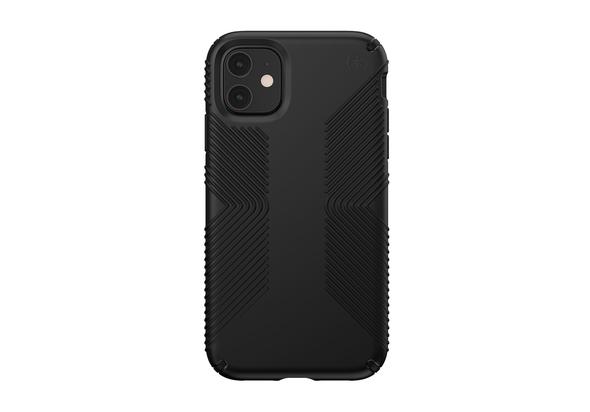 Speck Presidio Grip Case for iPhone 11, Black/Black