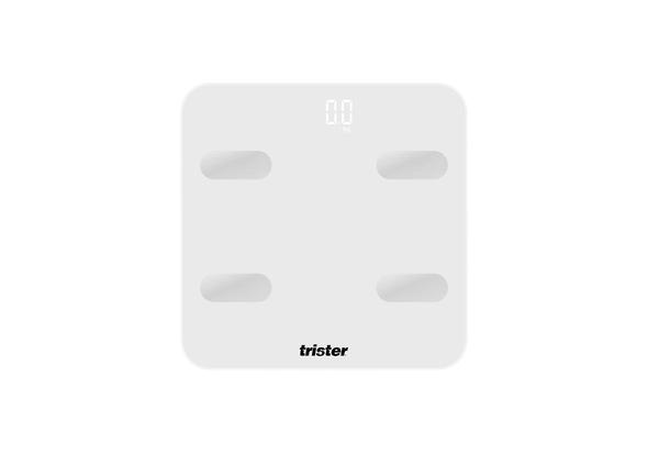 TRISTER SMART BODY MUSCLE BONE BMI SCALE -WHITE 4S