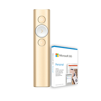 Logitech Spotlight Plus Presentation Remote, Gold with Microsoft 365 Personal