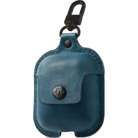 Twelve South AirSnap Leather Road Case for AirPods, Teal