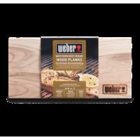 Weber Western Red Cedar Wood Planks - Small Set of 2, 15 x 30 cm