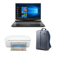 "HP 15-DK1004NE Pavilion Gaming, Core i5-10300H, 8GB RAM, 512GB SSD, Nvidia GeForce GTX 1650 4GB Graphics, 15.6"" FHD Gaming Laptop, Black"
