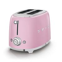 Smeg TSF01PKUK 2 Slice Toaster, Pink