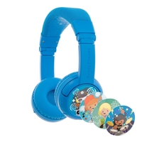 BuddyPhones Play+ Kids Wireless Bluetooth Headphones, Cool Blue