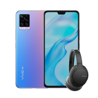 Vivo V20 8GB 128GB Smartphone LTE, Sunset Melody with Sony WHCH710N Noise Cancelling BT Headset