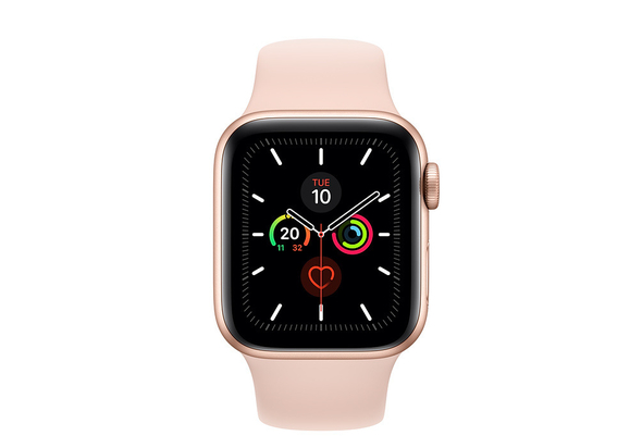 Apple Watch Series 5 40mm Gold Aluminum Case with Sport Band, GPS