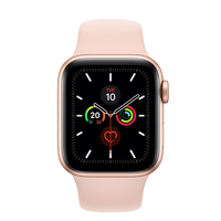 Apple Watch Series 5 44mm Gold Aluminum Case with Sport Band, GPS