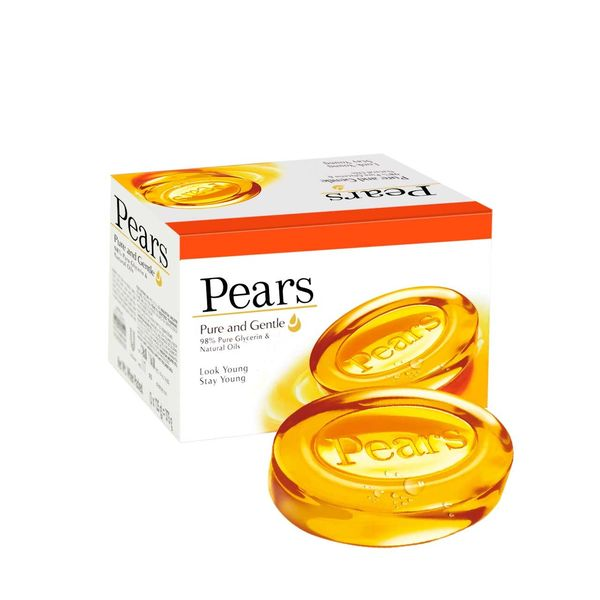 Pears Pure & Gentle Soap Bar, 125 gm