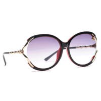 JRS FIRST S66B4135 Smoke Gradient Butterfly Sunglasses for Women