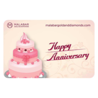Malabar Gold and Diamonds Happy Anniversary Gift Voucher, 5000