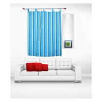 Luk Luck Cotton Ring Rod Window Curtain (Set Of 2)