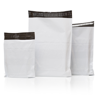 Tamper Proof POD Courier Bags (Pack of 100) (White, Black) Security Bag (16.51 x 19.05 Pack of 50)