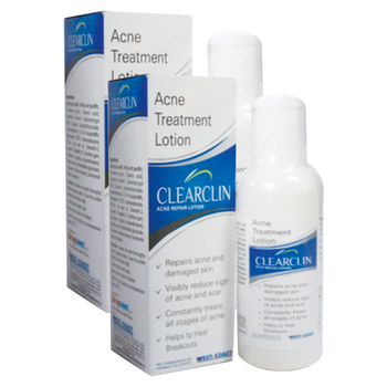 WestCoast Clearclin Acne Repair Lotion 60ml (Pack of 2)