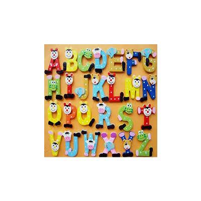Wooden Cartoon Alphabet Fridge Whiteboards Magnet Educational Toys for Baby Kids
