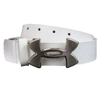 Under Armour Logo Leather Belt - White, 40,  white