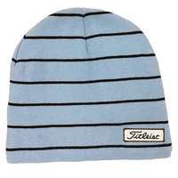 Titleist Striped Beanie Winter Hat - Royal Blue/Black