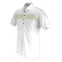 Mizuno JQ Print Rib Polo T Shirt - White, m,  white
