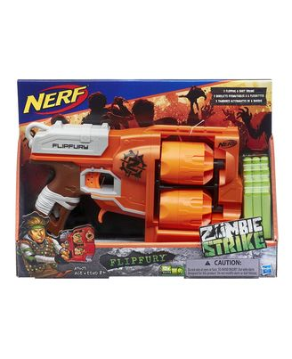 NERF Guns Zombie Strike Flipfury Blaster, Age 8+