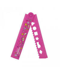 Smily Fold Up Ruler-Pink