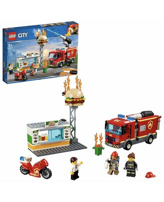 Lego City Burger Bar Fire Rescue Building Blocks, Age 5+