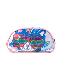 Superkitty Single Compartment Pencil Pouch, pink