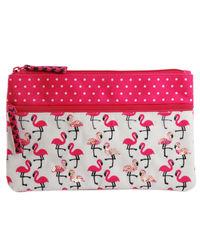 Flamingo Blush Two Zip Pouch