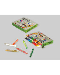 Doms Long Jumbo Wax Crayons 24 Shades