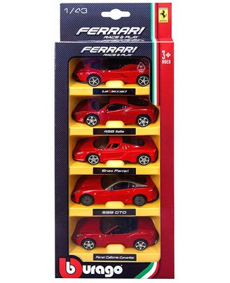 Bburago Ferrari 5 Pack - Red