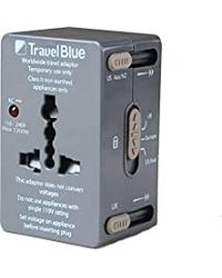 Travel Blue All In One World Wide Adaptor