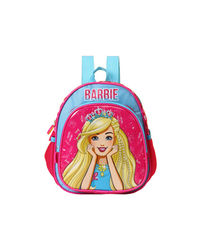 Barbie With Crown Blue & Pink School Bag 25 cm