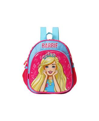 Barbie With Crown Blue & Pink School Bag 25 cm