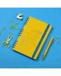Stationery Addict Notebook, yellow