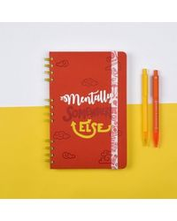 Rumble Ruckus Stop Notebook, red