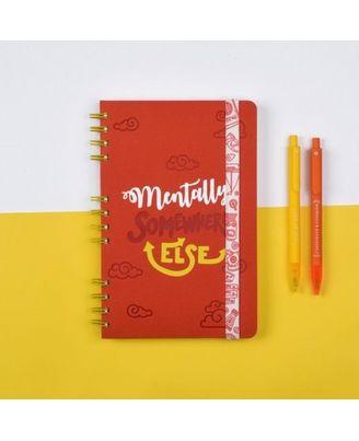 Rumble Ruckus Stop Notebook, red