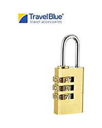 Travel Blue 3 - Dial Combination Padlock