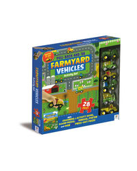 Pull Back And Go Farmyard Vehicles Activity Set, na