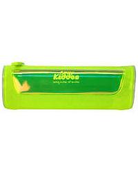 Smily Transparent ZiPPer Pouch Yellow, yellow