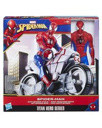 Spiderman Titan Hero Series Action Figure And Cycle, Age 4+