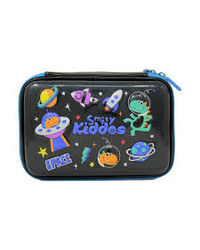 Smily sparkle pencil case - Space theme-Black