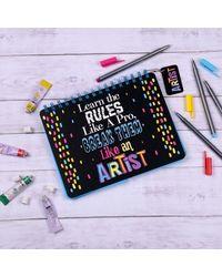 Artist Rules Notebook, black