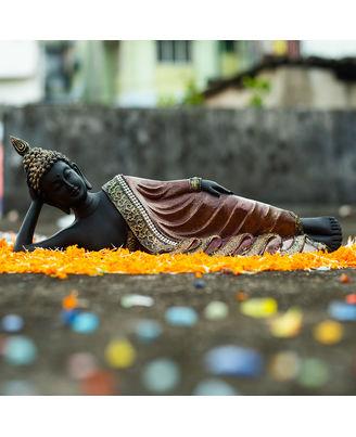 Resin Sleeping Buddha Glitter