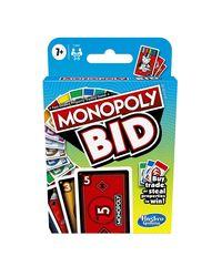 Hasbro Monopoly Bid Card, Age 6 To 8 Years