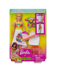 Barbie Crayola Rainbow Cutie Fruity Surprise Doll, Age 3+
