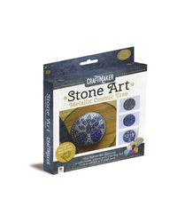 Craftmaker Stone Art Metallic Cosmic Tree, na