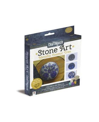 Craftmaker Stone Art Metallic Cosmic Tree, na