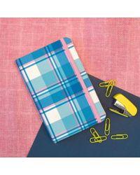 Checkered Cobalt Notebook, multicolour