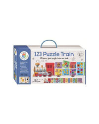 Building Blocks 1 2 3 Puzzle Train, multi